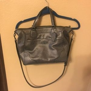AUTHENIC COACH GUNMETAL HANDBAG